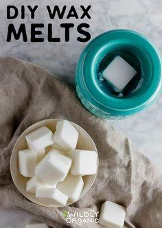 DIY Wax Melts - Made from All-Natural Real Ingredients Diy Wax Melts, Scented Wax Melts, Organic Recipes, Raw Food Recipes, Keto Recipes, Hair Care Recipes, Diy Candles, Making Candles, Homemade Candles