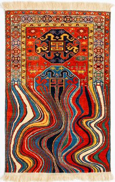 Faig Ahmed Contemporary Rugs from Traditional Azerbaijani Textiles — Contemporary Art Curator Magazine Glitch Art, Art Design, Textile Design, Graphic Design, Art Ancien, Acid Trip, Patterned Carpet, Contemporary Rugs, Oeuvre D'art