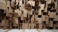 This inventive cardboard installation is made by the Swiss design group, Zimoun. This installation is quite intriguing, it's a series of 2,000 cardboards attached to 200 DC motors, which makes music in the most unconventional way thought. Sound Sculptures is truly a piece to marvel at, the scathing audio that is lurking in everyday objects.