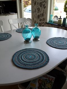 find this pin and more on crochet household kitchen etc crochet mandala style placemats - Kitchen Table Mats