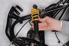 Suzuki LT80 Front Shock Absorber Removal