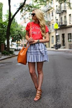 How to make a t-shirt look cute - click to get ideas from our favorite bloggers