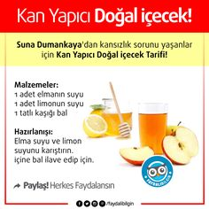 Suna Dumankaya& Blood Maker Natural Drink for those with anemia problem . Health Tips, Health Care, Maker, Healthy Lifestyle, Food And Drink, Blog, Fruit, Instagram Posts, Nature