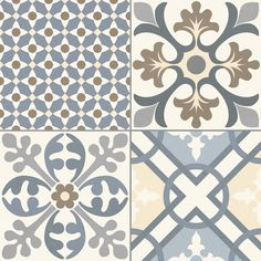 Carrelage imitation ciment gris et blanc mix 20x20 cm antigua gris 1m so - Carrelage motif ancien ...