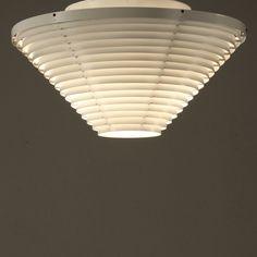 Alvar Aalto A622 Ceiling Light. Rare First Valaistustyö Edition, Finland, 1950s 4