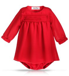 Christmas day outfit perfection.  Baby girl in a red Baby Dior dress?  Yes please.