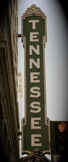 Tennessee theater sign downtown Knoxville