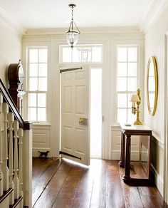90 Awesome Front Door Farmhouse Entrance Decor Ideas And Remodel Architectural Digest, Style At Home, Foyer Furniture, Coaster Furniture, Home Design, Interior Design, Design Ideas, American Houses, Entrance Decor