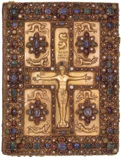 Jeweled upper cover of the Lindau Gospels, ca. 880 Court School of Charles the Bald Lindau Gospels, in Latin Switzerland, Abbey of St. Gall, late ninth century 350 x 275 mm