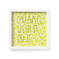 Dream Wish Do Typography Print | dotandbo.com