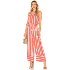 c032d511083 Band of Gypsies Stripe Cross Back Jumpsuit (255 PEN) ❤ liked on Polyvore  featuring