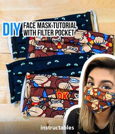 face mask with filter pocket pattern * face mask pattern ` face mask ` face mask pattern free printable ` face masks diy sewing ` face mask diy ` face mask with filter pocket ` face mask pattern medical ` face mask with filter pocket pattern Sewing Hacks, Sewing Tutorials, Sewing Projects, Sewing Patterns, Sewing Tips, Diy Projects, Sewing Lessons, Easy Face Masks, Diy Face Mask