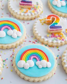 Items similar to Decorated Rainbow Sugar Cookies Vegan Gluten-free on Etsy Rainbow Sugar Cookies, Sugar Cookie Royal Icing, Iced Sugar Cookies, Cookie Frosting, Rainbow Cookie, St Patrick's Day Cookies, Logo Cookies, Easter Cookies, Birthday Cookies