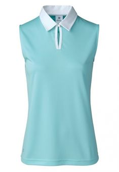 If you're in the market for some new outfits, consider our women's apparel! Shop this comfortable and stylish ESSENTIAL DAILY (Azul & White) Daily Sports Ladies & Plus Size Stacia Sleeveless Golf Polo Shirt from Lori's Golf Shoppe.
