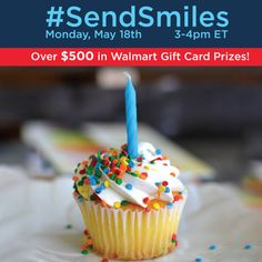 Looking for great gifts that won't break your budget? Join us for the #SendSmiles Twitter Party and live sweepstakes  on Mon May 18, 2015 at 3pm EST for  affordable gift ideas and tips for saving! We'll be giving away prizes to help you send smiles for any gift-giving occasion! RSVP and find rules  : http://www.sofabchats.com/parties/509-twitter-party SWEEPS