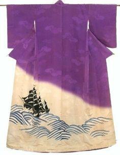 Yuzen kimono from mid Showa Period