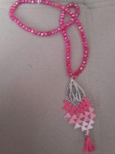 Crochet Necklace, Jewelry, Fashion, Jewellery Making, Moda, Jewels, Fashion Styles, Jewlery, Jewerly
