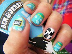 Ice cream nail art - No biting your nails! Crazy Nail Art, Crazy Nails, Ice Cream Nails, Nailart, Cow Nails, Nails Tumblr, Favim, Creative Nails, Looks Cool