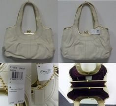 """Genuine Coach White Leather Handbag Purse NWT . $230.00. PERFECT GIFT!!Genuine Coach New With Tags Large White Leather HandbagManufacture Suggested Retail Price is $458Purse Measures 14x8x6"""" (appx)Purse Has Non-Adjustable StrapLarge Main Pocket with Latch and Two Magnetic Button Side SectionsWhich Have Two Pouches and One Zipper PocketWONDERFUL COACH HANDBAG NEW WITH TAGS!!! ."""