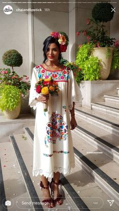 Love from Mexico Mexican Traditional Clothing, Traditional Dresses, Mexican Clothing, Fiesta Outfit, Mexican Outfit, Folklorico Dresses, Mexican Wedding Dresses, Mexican Wedding Traditions, Mexican Style Dresses