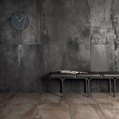 Porcelain stoneware wall/floor tiles INTERNO 9 by ABK Industrie Ceramiche Weathering Steel, Wall And Floor Tiles, Steel Wall, Home And Deco, Bedroom Styles, Wall Treatments, Metal Walls, Sheet Metal Wall, Vintage Metal