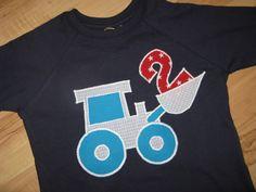 """Langarmshirts - Geburtstagsshirt """"Bagger 2"""", blau - ein Designerstück von Rockfrog bei DaWanda"""