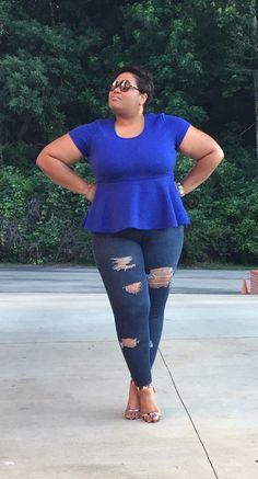 """Stress-Free Denim""|The Fly Church Girl Blog|Plus-Size Fashion"