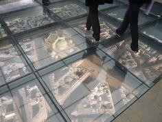 under-floor display