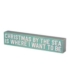Look at this #zulilyfind! 'Christmas By The Sea' Box Sign #zulilyfinds