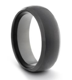Available Sizes 7-14 Including Half Sizes 8MM Tungsten Carbide Mens//Ladies//Unisex Black Brushed /& Polished Comfort Fit Wedding Band Ring