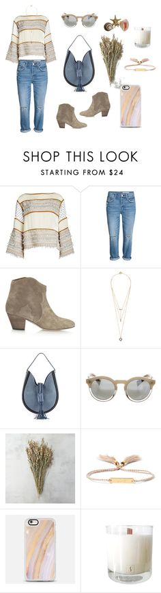 """""""January by the Sea"""" by stephc ❤ liked on Polyvore featuring See by Chloé, Isabel Marant, Noir Jewelry, Altuzarra, Illesteva, Chloé and Casetify"""