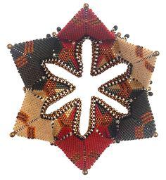 Rayo Boursier beadwork, Chris Vandervlist pattern, Contemporary Geometric Beadwork, Kate McKinnon, 2012