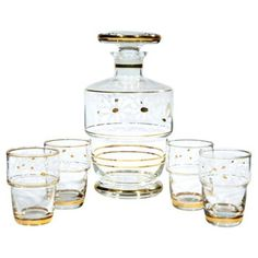 Check out this item at One Kings Lane! Belgium Decanter Set, S/5