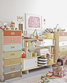 Oh Joy's Better Homes and Gardens spread- organized shelves and drawers for wee babe Ruby