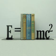 Emc2 Theory of Relativity Metal Art Bookends by KnobCreekMetalArts, $62.99