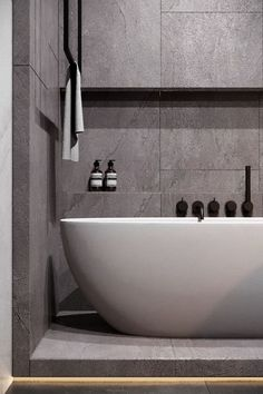 Luxury Master Bathroom Ideas is very important for your home. Whether you pick the Luxury Bathroom Master Baths Bathtubs or Luxury Bathroom Master Baths Photo Galleries, you will make the best Luxury Master Bathroom Ideas Decor for your own life. Luxury Master Bathrooms, Grey Bathrooms, Modern Bathroom, Hotel Bathrooms, Stone Bathroom, Master Baths, Bathroom Rugs, Bathroom Furniture, Modern Wall