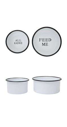 Your dog is usually lets you know when it's time for food, but just in case she's sleeping on the job, here's a nice little reminder. These quaint enameled pet dishes will not only help you remember to...  Find the Gentle Reminder Dog Bowls, as seen in the The Pet Boutique Collection at http://dotandbo.com/collections/holiday-boutiques-the-pet-boutique?utm_source=pinterest&utm_medium=organic&db_sku=113241