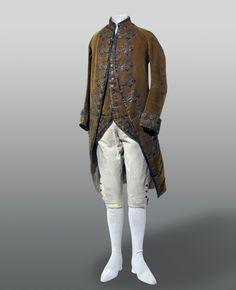 Gentlemans Formal Dress Frockcoat Waistcoat And Breeches Ca1760s Basel