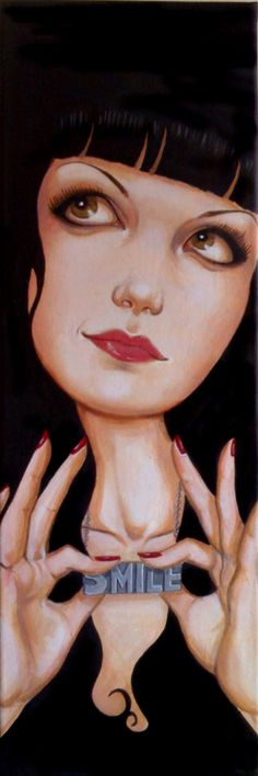 ✯ Smile :: Artist Lisa McIntyre ✯(this looks like 'Abby' on NCIS, probably is??)…