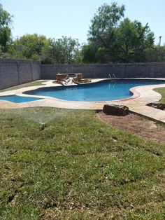 Pool...just need to work on the landscaping plants/trees