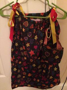 Handmade Toddler Girl Pillowcase Dress Hearts Amp Stars Matching Pocketbook Hairbo | eBay