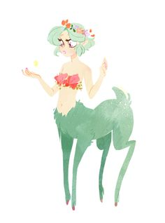 gorgeous and curious centaur girl (with some deer aspects! Art And Illustration, Illustrations, Kunst Inspo, Art Inspo, Fantasy Kunst, Fantasy Art, Poses References, Kawaii, Character Design Inspiration