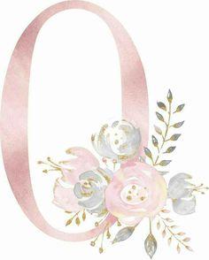 Wallpaper Backgrounds, Iphone Wallpaper, Watercolor Lettering, Flower Letters, Scrapbook Embellishments, Alphabet And Numbers, Watercolor Flowers, Design Elements, Paper Art