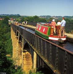 "Narrowboat along the Llangollen Canal in Wales.  ""crossed the Pontcysyllte Aqueduct,  engineering""    Read more: http://www.dailymail.co.uk/travel/article-2154100/Narrowboat-holidays-Canals-calm-Welsh-getaway.html#ixzz2ChdLTrb5"