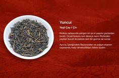 Yuncui Yeşil Çay / Çin Wokou tarlasında yetişen en iyi el yapımı çaylardan biridir. Güzel kokulu son derece narin filizlerden yayılan buruk lezzetiyle tam bir gurme tat sunar. Ayrıca, içeriğindeki flavonoidler ve yoğun vitamin sayesinde, kalp rahatsızlıkları riskini azaltır.