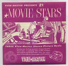 Movie Stars of Hollywood 1954 View-Master Packet MINT Condition