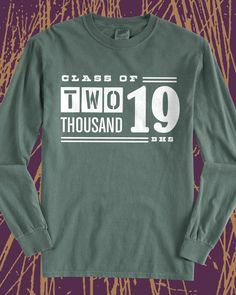 Class of 2019 vintage long sleeve tee - design idea for custom shirts - class shirt, graduation, class pride, school pride, school spirit, seniors, #squad, school sports