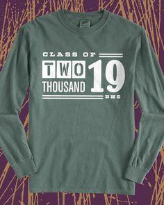 Class of 2019 vintage long sleeve tee - design idea for custom shirts - class shirt, graduation, class pride, school pride, school spirit, seniors, #squad, school sports