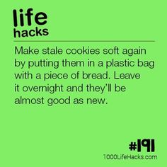 The post #191 – How To Make Stale Cookies Soft Again appeared first on 1000 Life Hacks. #LifeHack