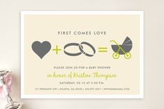 Love Equals Baby Shower Invitations by chica design at minted.com